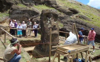 Excavations at Rano Raraku