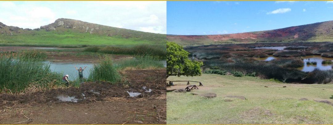 Humedales de Rapa Nui afectados por el Cambio Climático