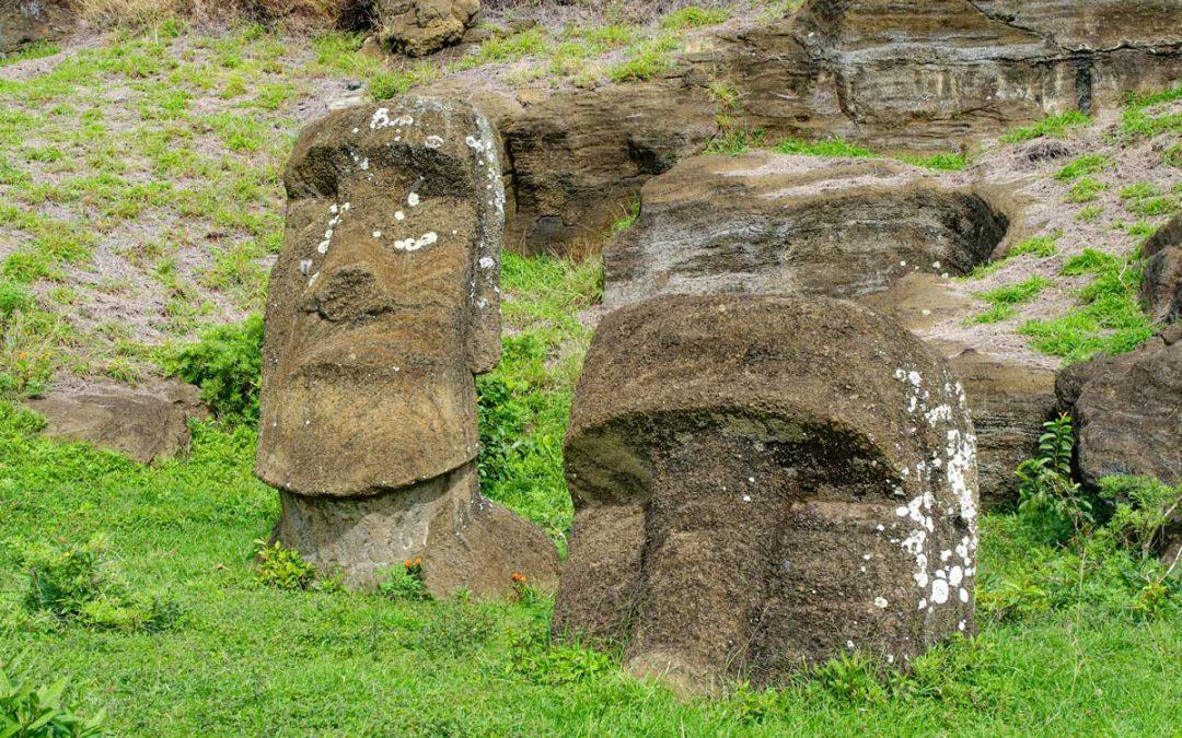 Rano Raraku, New excavations in Easter Island's Moai quarry